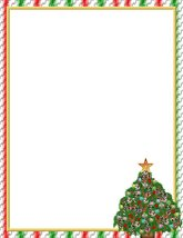 NEW Christmas Tree Decorated Letterhead Stationery Paper 26 Sheets - $9.89