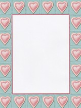 NEW Pink Hearts Letterhead Stationery Paper 26 Sheets - $9.89
