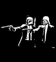 star wars darth vader & boba fett pulp fiction - 100% cotton t-shirt - $17.14+