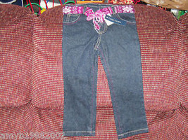 Faded Glory Jeans with belt size 18 months Girl's NEW HTF - $16.00