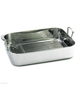 NORPRO 651 Large Rectangular Roaster Baking Pan With Rack 18/10 Stainles... - £90.93 GBP