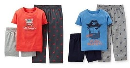 Carter's Infant  Boys 3 Pc Pajama Set Sz 2T Crab or Pirate NWT - $11.38