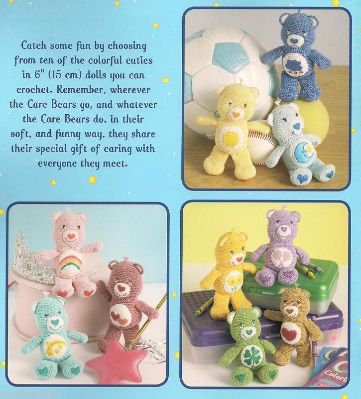 Mini Care Bears 6 Dolls Thread Crochet And 50 Similar Items
