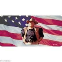 JOHN WAYNE AMERICAN FLAG METAL LICENSE PLATE AU... - $28.21