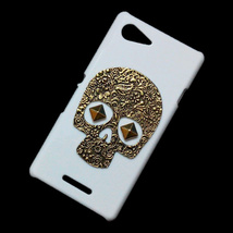 Retro Metal Bronze Skull Punk Stud Rivet Back Hard Case Cover For Sony X... - $6.99