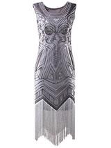 Vijiv Long Prom 1920's Vintage Gatsby Bead Sequin Art Nouveau Deco Flapp... - $35.90