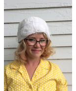 60s Pillbox Hat White Easter Spring 1960s Vintage - $27.00