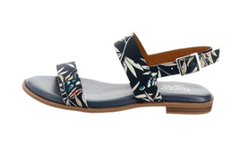 Franco Sarto Back Strap Sandals Velocity Navy Floral 9M NEW A306948 - $67.30