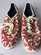 Keds For Kate Spade Womans Red & White Lace Up Flats Shoes Size 8.5  - $37.16