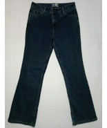 Levis Womens At waist Boot Cut Signature Dark Blue Jeans 32X30 with Temp... - $12.30