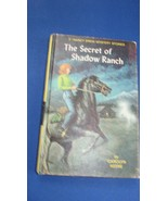 Nancy Drew Hardcover Yellow Spine Book #5 The Secret of Shadow Ranch 1965 ? - $3.99