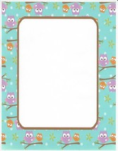 Owls In A Tree Stationery Printer Paper 26 Sheets - $9.89