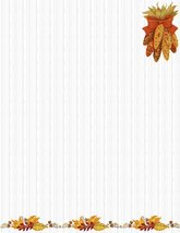 NEW Thanksgiving Corn Letterhead Stationery Paper 26 Sheets - $9.89