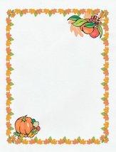 NEW Thanksgiving Pumpkin Letterhead Stationery Paper 26 Sheets - $9.89