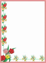 NEW Red Floral Letterhead Stationery Paper 26 Sheets - $9.89
