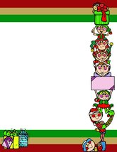 NEW Christmas Stacked Elves & Gifts Letterhead Stationery Paper 26 Sheets - $9.89