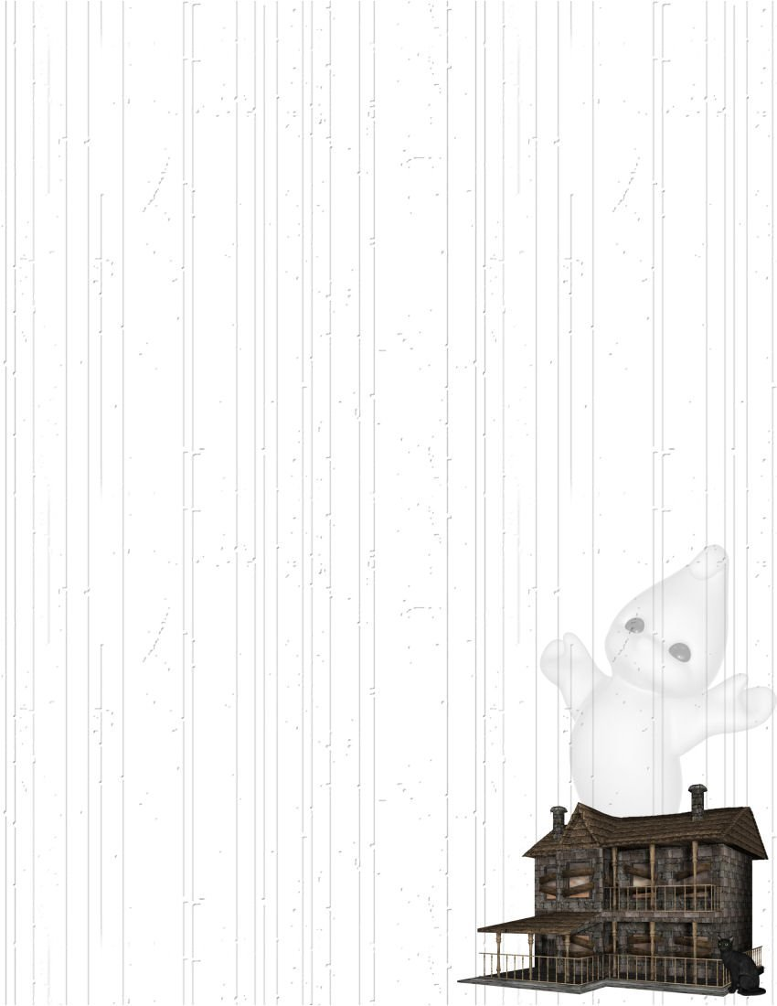 Halloween Haunted House & Ghost Stationery Printer Paper 26 Sheets - $9.89