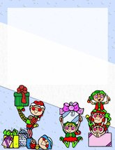 NEW Christmas Elves Letterhead Stationery Paper 26 Sheets - $9.89