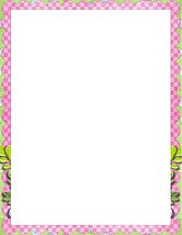 NEW Pink Floral Checker Letterhead Stationery Paper 26 Sheets - $9.89
