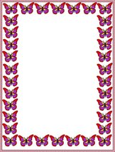 NEW Red Purple & Yellow Butterflies Letterhead Stationery Paper 26 Sheets - $9.89