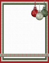 NEW Christmas Ornaments Letterhead Stationery Paper 26 Sheets - $9.89