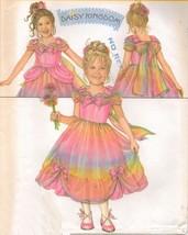 Childs Daisy Kingdom Easter Party Xmas Flower Girl Dress Over Skirt Pattern 3-6 - $13.99