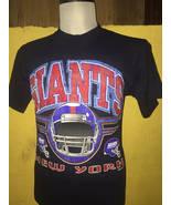 Vintage 90s New York Giants Logo 7 NFL Football Big Logo Streetwear T-Shirt - $60.00