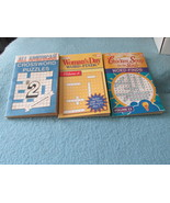 Lot of 3 Word Find and Cross Word Puzzle Booklets - $4.99