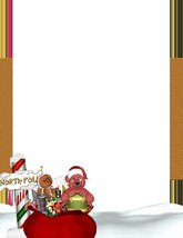 NEW Christmas North Pole Letterhead Stationery Paper 26 Sheets - $9.89