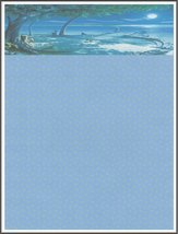 NEW Romantic Beach Letterhead Stationery Paper 26 Sheets - $9.89
