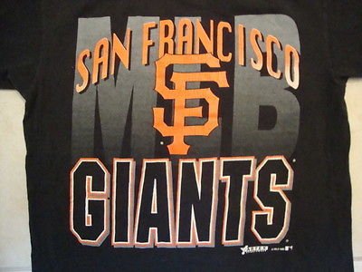 Primary image for Vintage MLB San Francisco Giants Baseball Fan Apparel Sportswear T Shirt SIze L