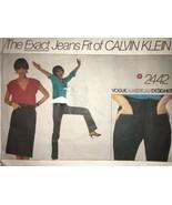Vogue American Designer CALVIN KLEIN Jeans Skirt Pattern 2442  Sz 6 25.5... - $16.73