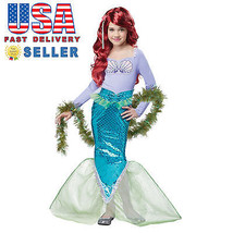 California Costume Magical Mermaid Kid Child Halloween Cosplay Party Fun... - $35.00