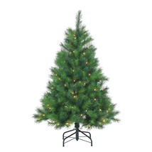 Gerson Company 4.5' Wisconsin Spruce Pre-Lit Christmas Tree Clear Lights  - $80.98