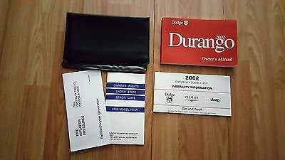 2002 Dodge Durango Owners Manual 04016