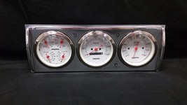 1941 1942 1943 1944 1945 1946 CHEVY TRUCK 3 GAUGE CLUSTER WHITE METRIC - $326.90
