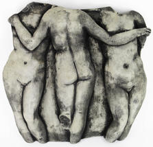 Three Graces Concrete Wall Plaque - $79.00
