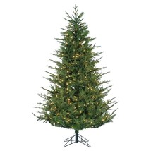Gerson Company 6.5' Natural Cut Chesterfield Spruce Pre-lit Tree with Po... - $320.99