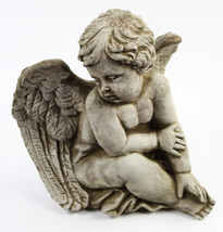 Sitting Angel Concrete Statue  - $69.00