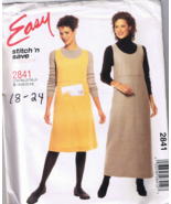 McCall's STITCH 'N SAVE 2841 Misses Jumper - Si... - $5.00
