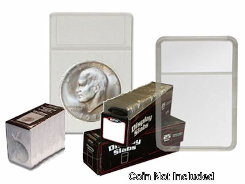 BCW Premium Sacagewea Coin Display Slab Holder with White Foam Inserts 25