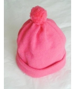 Childs Machine Knitted Hat- Size 2-3-Pink - $4.99