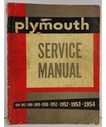 Plymouth Service Manual 1946 - 1954  - $14.99