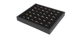 Lot of 6 Black 36 Ring Jewelry Display Storage Presentation Stackable Trays - $36.67