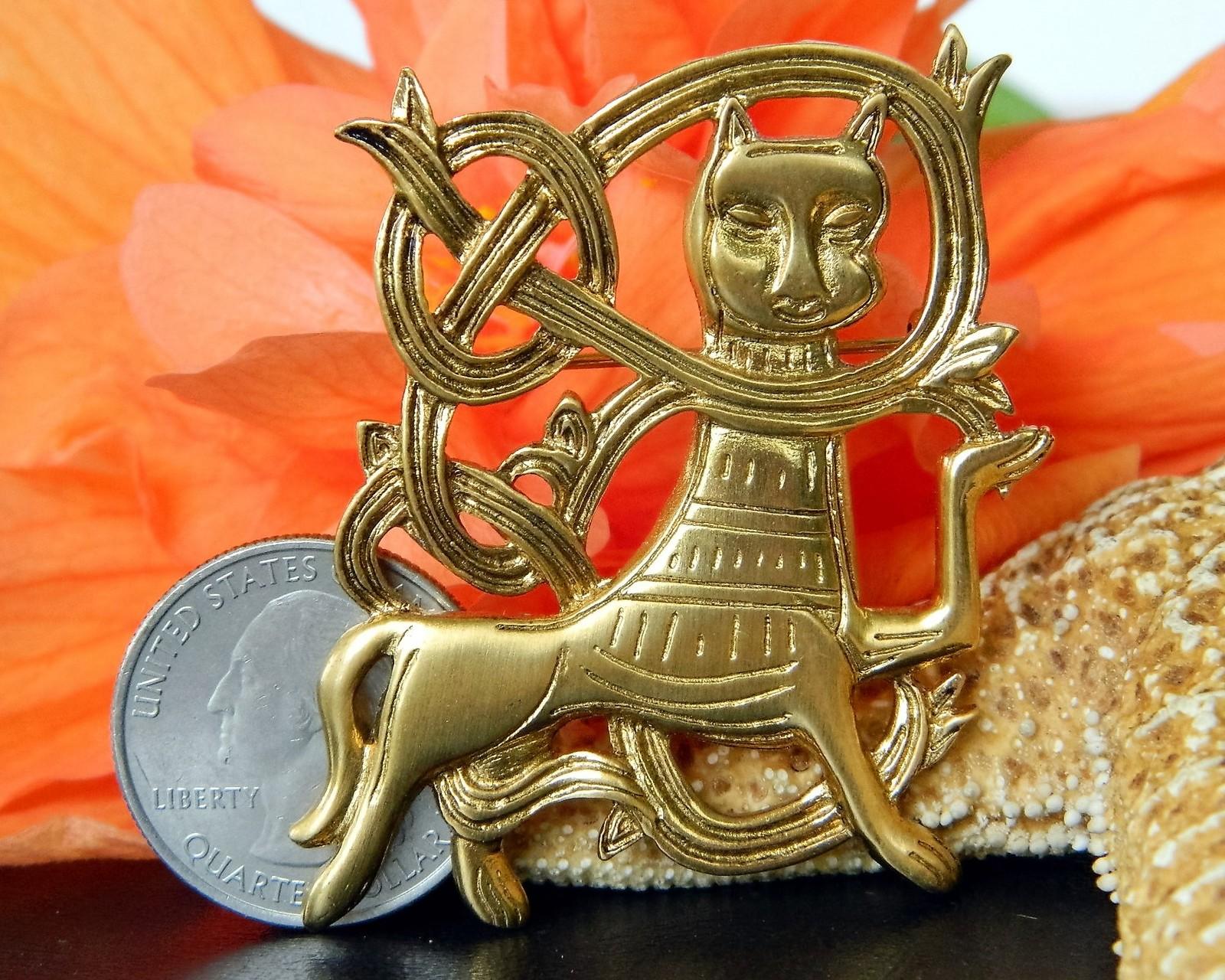 Cat Brooch Pin Kiev Russia Russian Monastery Museum Reproductions