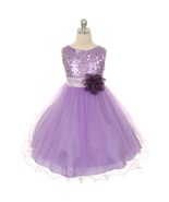 Lavender Sequined Bodice Flower Girl Dresses Birthday Pageant Bridesmaid... - $40.00+