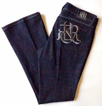 Womens Rock & Republic Kasandra Jeans Dark Blue Denim Measures 35 x 34 - $49.95