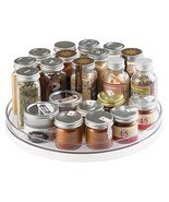 mDesign Lazy Susan Turntable Spice Organizer for Kitchen Pantry Cabinet - $25.62
