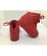 Fila 7cm00652-600 Red High Tops Kids Shoes Tie Up With Strap - $22.77