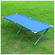Folding Cot (600D Oxford Cloth) w/ Carrying Bag - Portable Camping Hikin... - $42.88